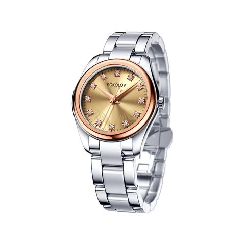 Женские часы от SOKOLOV из стали и золота