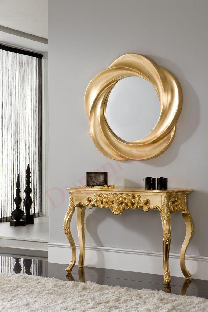 Зеркало DUPEN PU177 золото, Консоль DUPEN К58 золото
