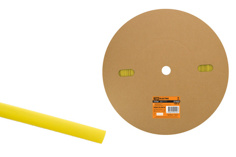 Термоусаживаемая трубка ТУТнг 10/5 желтая (100 м/ролл) TDM
