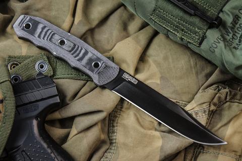 Туристический нож Enzo D2 Black Titanium