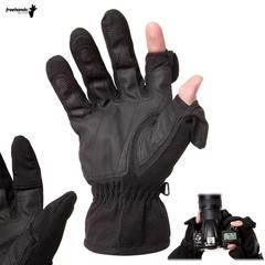 Перчатки Freehands Stretch Thinsulate Gloves для фотографа со съемной защитой пальцев, черные
