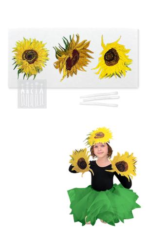 Фото Подсолнухи Ван Гога ( комплект для пошива ) рисунок Хотите сшить цветы своими руками? Мастерская Ангел предлагает наборы для самостоятельного пошива цветов!