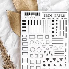 Stiker наклейка ibdi nails 06