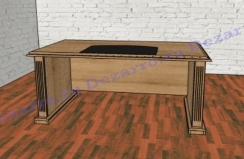 Стол письменный прямой с бюваром С331/1 (Советник)