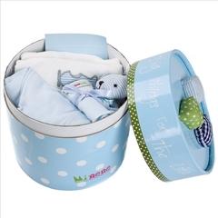 Подарочный набор для новорожденного в коробке-сортере Minene, голубой