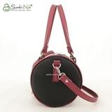 Сумка Саломея 537 гладкий черный + рубин