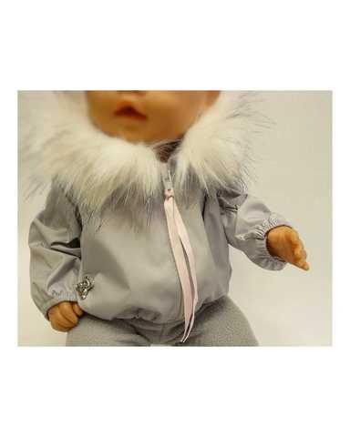 Костюм с курткой c мехом - Детали. Одежда для кукол, пупсов и мягких игрушек.