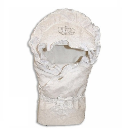 Зимний конверт на выписку для новорожденных Masterpiece белый