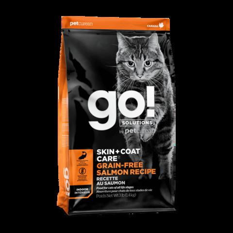 Go! Skin + Coat Сухой корм для кошек и котят с лососем (беззерновой)