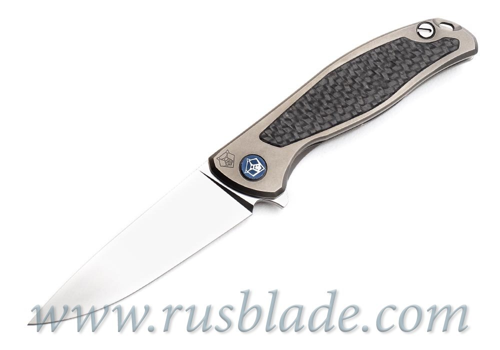 Shirogorov Flipper 95 S30V S Titanium CF inlays