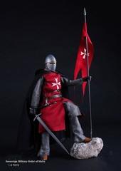 Средневековые воины фигурка 1/6 Рыцарь Мальты