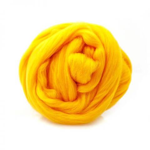 Шерсть для валяния Полутонкая (Троицкая) 596 желтый