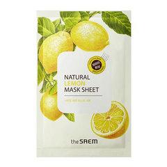 Saem Natural Lemon Mask Sheet - Маска тканевая с экстрактом лимона