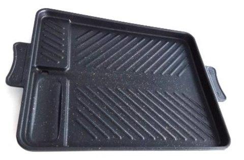 Гриль железный плоский, прямоугольный 31х26