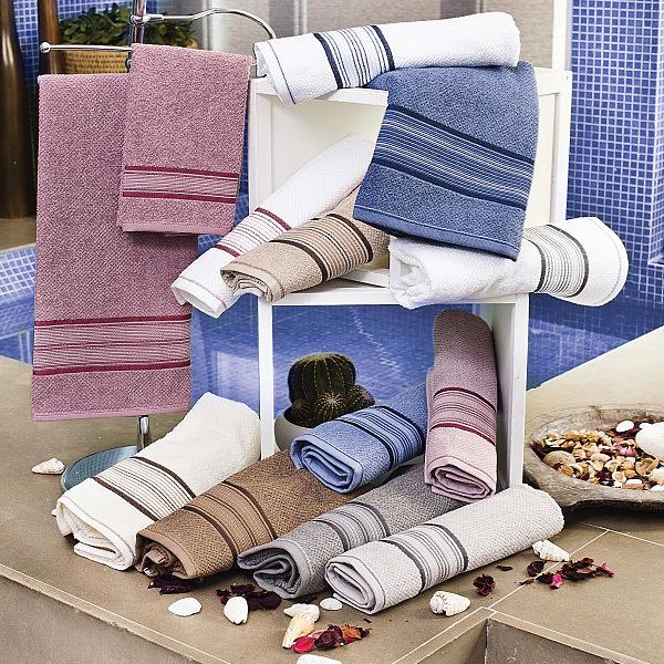 Набор полотенец 2 шт Vingi Ricami Doriana в коробке серый
