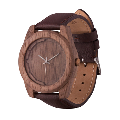 Часы из дерева AA Wooden Watches Шторм Орех