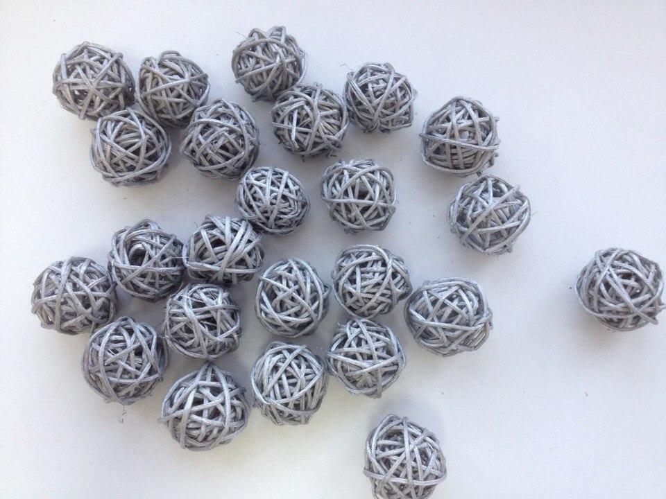 Ротанговый шар 1 шт, 3 см.