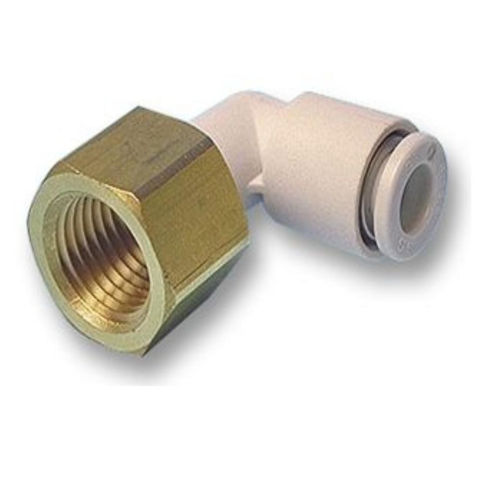 KQ2LF08-01A  Угловое быстроразъемное соединение