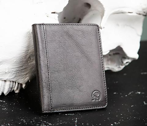 Небольшое мужское портмоне из натуральной кожи