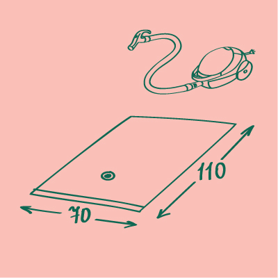 Вакуумный пакет для хранения вещей, цветной 70*110