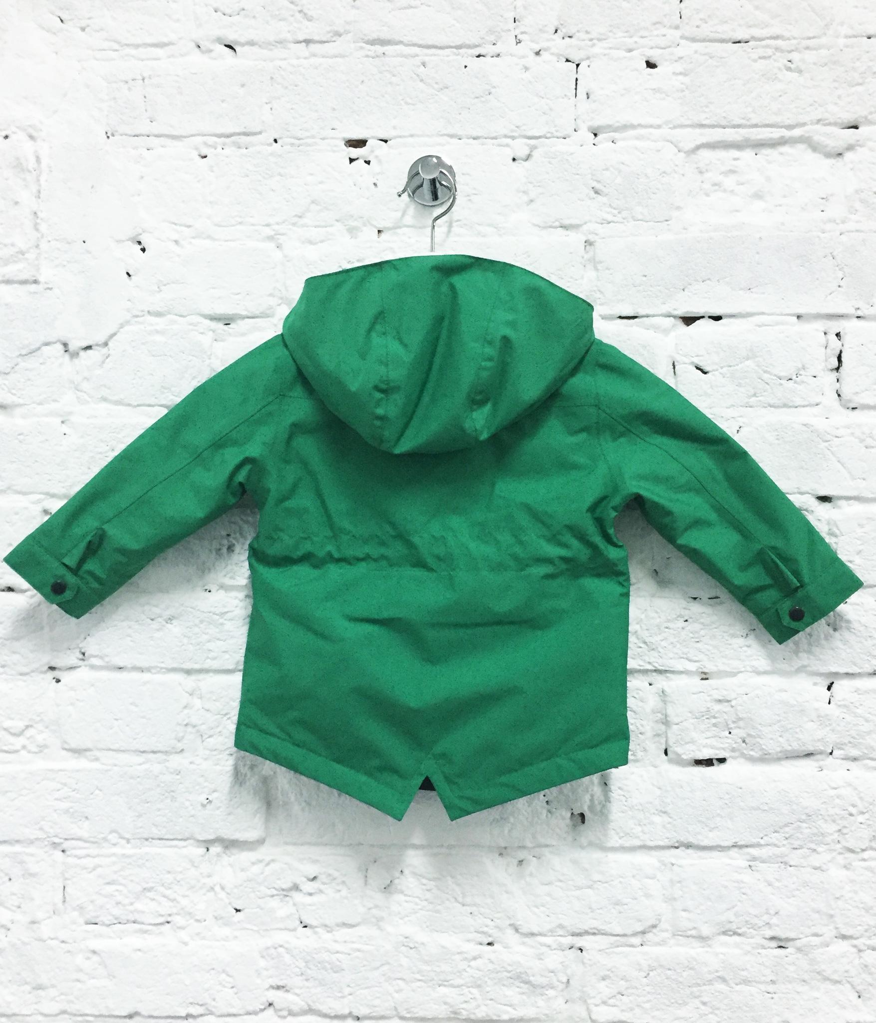 парка куртка детская весенняя теплая SASHA JUNIOR цвет Грин зеленый