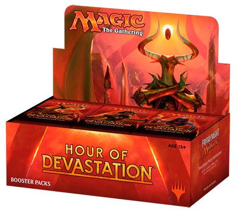 Дисплей бустеров выпуска «Hour of Devastation» (английский)