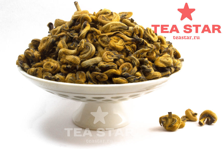 "Черный чай ""Золотые спирали"", Дянь Хун Цзинь Ло, 50 гр. Gold_Snail.jpg"