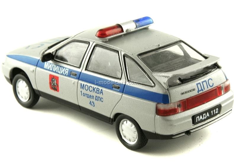 VAZ-2112 Lada DPS Traffic Patrol Police Russia 1:43 DeAgostini Service Vehicle #10