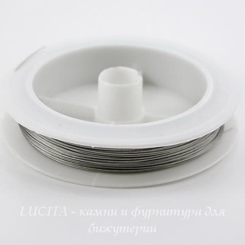 Тросик ювелирный 0,45 мм (цвет - античное серебро) примерно 70 метров (Картинка)
