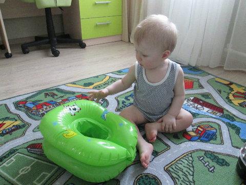 Надувной горшок Baby-Krug, желтый