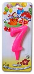 Свеча тортовые ароматизированные цифры-мармеладки 7