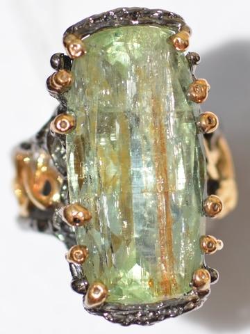 Айви (серебряное кольцо с позолотой)