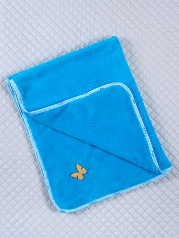 Махровый плед (синий), Размер 115*90 см