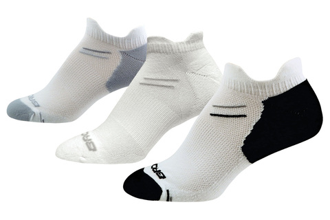 BROOKS VERSATILE DOUBLE TAB комплект беговых носков белые