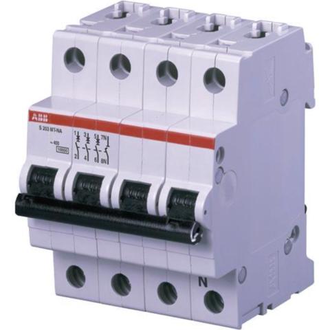 Автоматический выключатель 3-полюсный с нулём 50 А, тип B, 10 кА S203MT-B50NA. ABB. 2CDS273106R0505