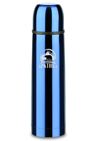 Термос Арктика (0,75 литра) с узким горлом классический, синий