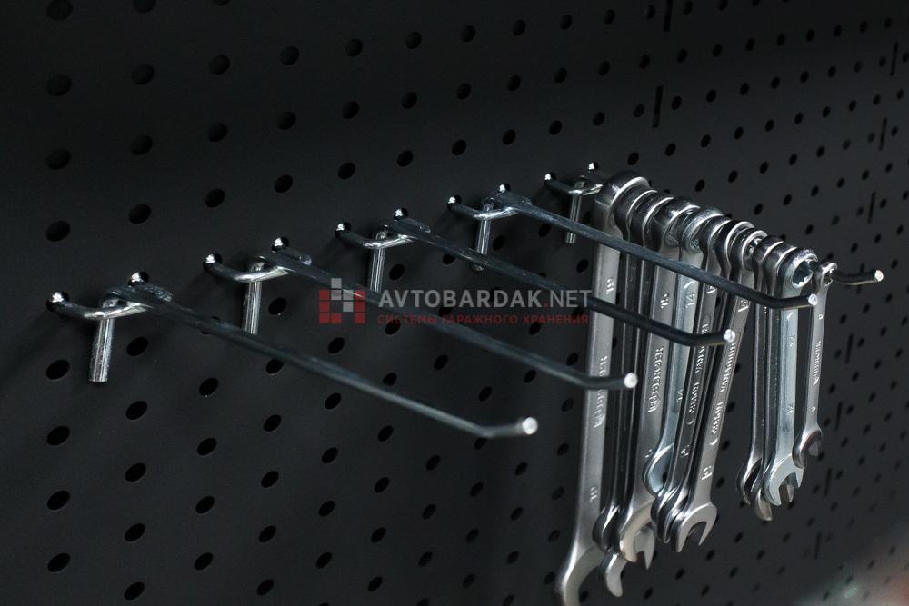 Одинарные крючки (5 шт.) на металлическую перфопанель