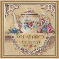 DIMENSIONS Кружевной чайничек (Treasured Friend Teapot)