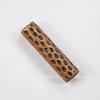 Бусина металлическая трубочка с узором 25х6 мм (цвет - античная медь)