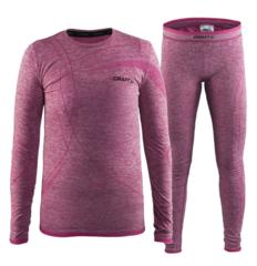 Детский комплект термобелья для девочек Craft Comfort розовый
