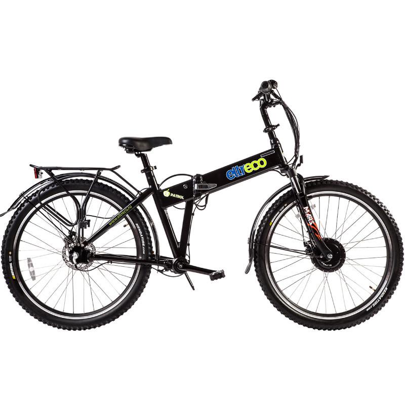 Велогибрид Eltreco PATROL КАРДАН 26 DISC черный матовый - Велогибриды, артикул: 780630
