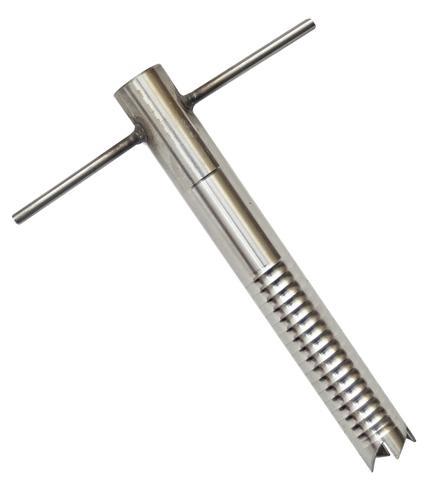 Ввертыш нерж.сталь (130мм, d=18мм) фиксированная ручка