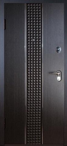 Конструктор М-6, 2 замка, 2 мм металл, (венге кантри+ясень белый), Сейф-дверь входная Falko