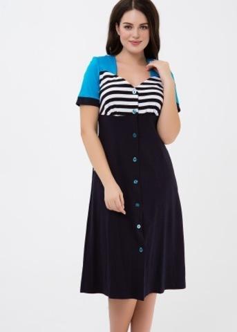 4567 Платье на пуговицах