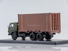 KAMAZ-53212 with a 20-foot container khaki-brown 1:43 Start Scale Models (SSM)