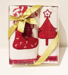 Набор махровых салфеток Новый год RED PINE 2пр 40х60  Tivolyo Home Турция