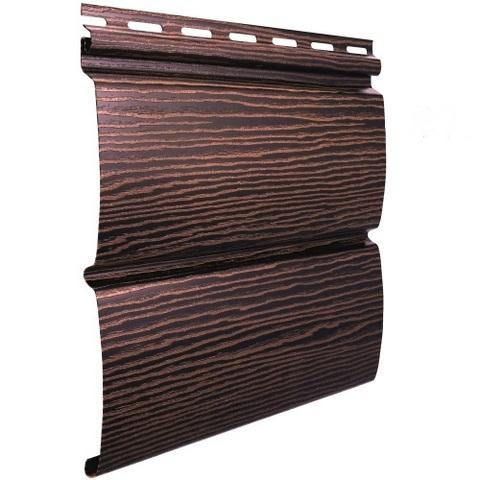 Сайдинг Ю пласт Тимберблок акриловый дуб мореный 3400х230 мм
