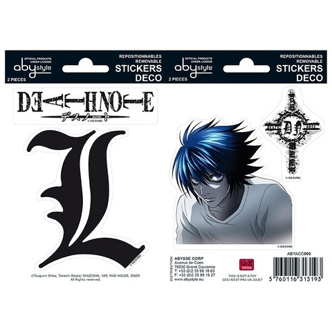 Наклейки ABYstyle: DEATH NOTE: Stickers: 16x11cm/ 2 sheets: L  X5  ABYDCO149