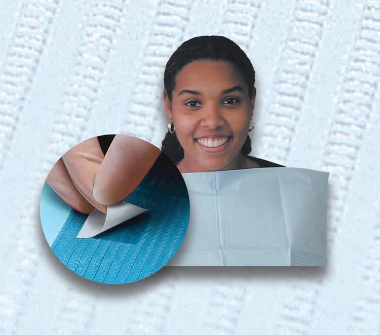 Нагрудники для пациентов Sani-Tab (400 шт. в упаковке)