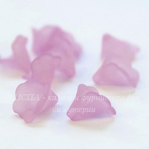 """Бусина акриловая Цветочек фиолетовый """"Калла"""" 10х10 мм, 10штук"""